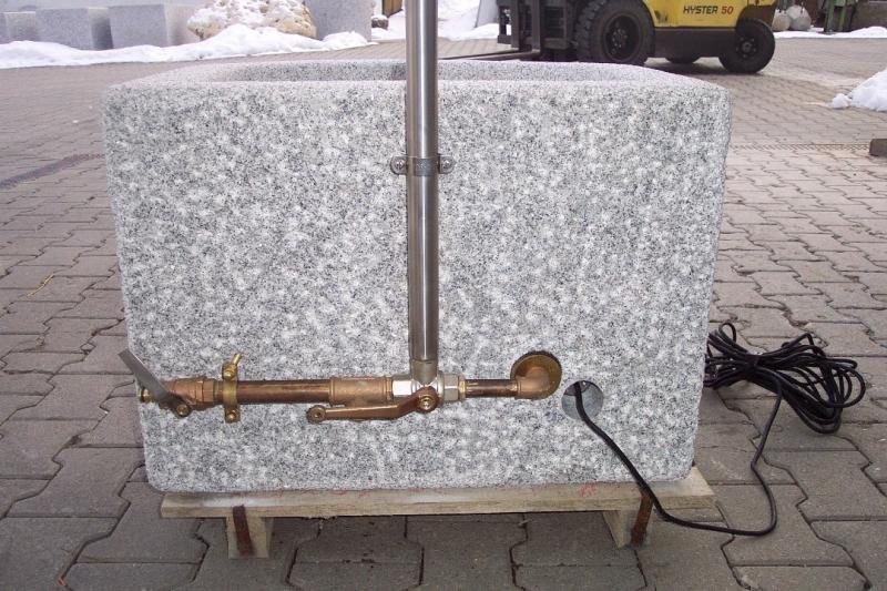 Cz021 umlaufsystem f r granitbrunnen 1 edelstahl for Czernei naturstein