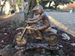 Bronzefigur Sonderanfertigung: Motorradfahrer