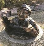 Rottenecker Bronzefigur Kanalarbeiter