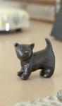 Rottenecker Bronzefigur Katze Luna Ebenholz