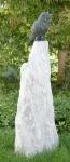 Rottenecker Bronzefigur Waldohreule auf Sosario-Säule
