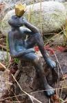 Rottenecker Bronzefigur FroschkönigFrieder, klein