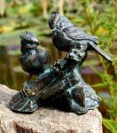 Rottenecker Bronzefigur Vogelpaar auf Bronzeast