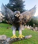 Rottenecker Bronzefigur Weißkopf-Seeadler mit Bronze-Stamm