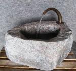 Rottenecker Brunnenauslauf, bronze, groß, braun patiniert