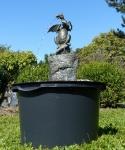 Rottenecker Bronzefigur Drache mit Walnuss, Komplettset