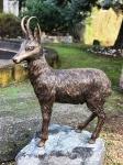 Rottenecker Bronzefigur Gams, groß