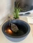 Rottenecker Bronzefigur Brunnenset home mit Froschkönig klein sitzend