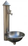 GART+ART Wasser-Paneel mit Becken Edelstahl
