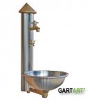 GART+ART Wasser-Paneel mit Becken und unterem Schlauchventil