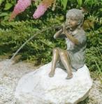 Rottenecker Bronzefigur Franziska, wasserspeiend