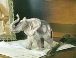 Rottenecker Bronzefigur Elefant