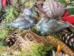 Rottenecker Bronzefigur Entenpärchen, klein