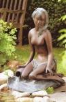 Rottenecker Bronzeskulptur Venus, wasserspeiend