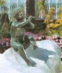 Rottenecker Bronzefigur Florian, wasserspeiend