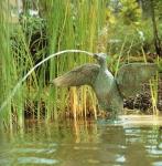 Rottenecker Bronzefigur Schnatterente, wasserspeiend