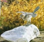 Rottenecker Bronzefigur Nachtigall