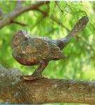 Rottenecker Bronzefigur Gartenrotschwanz, Kopf eingedreht