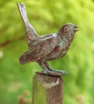 Rottenecker Bronzefigur Haussperling, singend