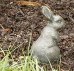 Rottenecker Bronzefigur Feldhase klein horchend