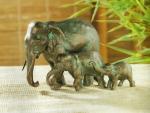 Rottenecker Bronzefigur Elefanten-Familie