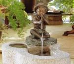 Rottenecker Bronzefigur Philipp, mit Sockel, wasserspeiend