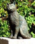 Rottenecker Bronzefigur Katze mittelgroß