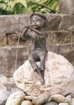 Rottenecker Bronzefigur Pirmin, wasserspeiend