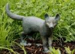 Rottenecker Bronzefigur Fuchswelpe stehend