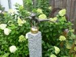 Rottenecker Bronzefigur FroschkönigDietmar, wasserspeiend