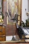 Rottenecker Bronzefigur Eisvogel im Schilfrohr