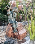 Rottenecker Bronzefigur Claudio, wasserspeiend