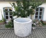 Granitbrunnen / Pflanztrog rund 110x80