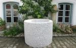 Granitbrunnen / Pflanztrog rund 90x70