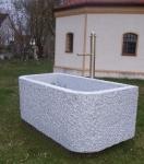 Granitbrunnen / Pflanztrog rechteckig 140x90x70