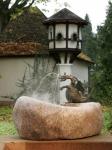 Rottenecker Bronzedrache Drusilla klein, wasserspeiend