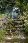 Rottenecker Bronzedrache Drusilla groß, wasserspeiend