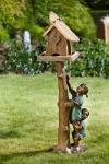 Rottenecker Bronzefigur Kinder am Baumstamm