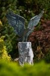 Rottenecker Bronzefigur Seeadler, grün patiniert