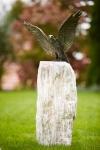 Rottenecker Roter Milan, Flügel offen, auf Granit