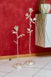 Rottenecker Bronzefigur Rose groß, silber