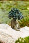 Rottenecker Bronzefigur Bonsai groß auf Granit