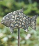 Rottenecker Bronzefigur Buttje der Fisch, wasserspeiend