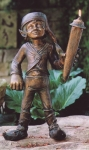 Rottenecker Bronzefigur Gandolf, wasserspeiend