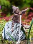 Rottenecker Bronzefigur Alberich, wasserspeiend