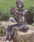 Rottenecker Bronzefigur Leander, wasserspeiend