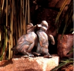 Rottenecker Bronzefigur Enten-Kinder