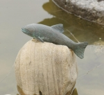 Rottenecker Bronzefigur Forelle, wasserspeiend
