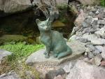 Rottenecker Bronzefigur Katze