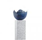 Rottenecker Feuerschale groß, blau patiniert, D 33 cm